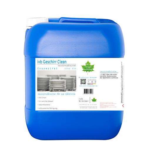 ivb Geschirr Clean mit Chlor für weiches Wasser desinfizierend Geschirrspülmittel Konzentrat