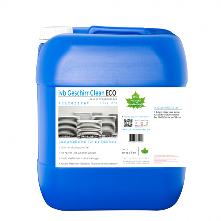 ivb Geschirr Clean Eco chlorfrei und phosphatfrei Geschirrspülmittel Konzentrat